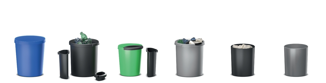 Waste bins. Recycling system.
