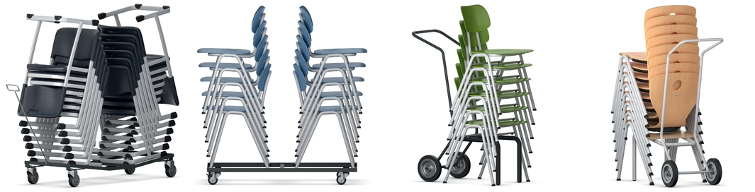 Stacking trolley and stacking carts