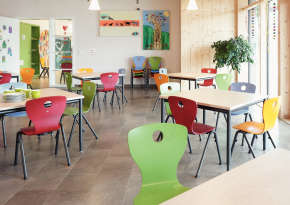 Midday pupils' bistro, recreation area in the afternoon.