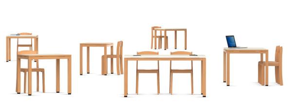 VS | Quadra Table individuelle pour école maternelle et ...