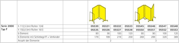 vs serie 2000 typ p paravent 2 3 teilig. Black Bedroom Furniture Sets. Home Design Ideas