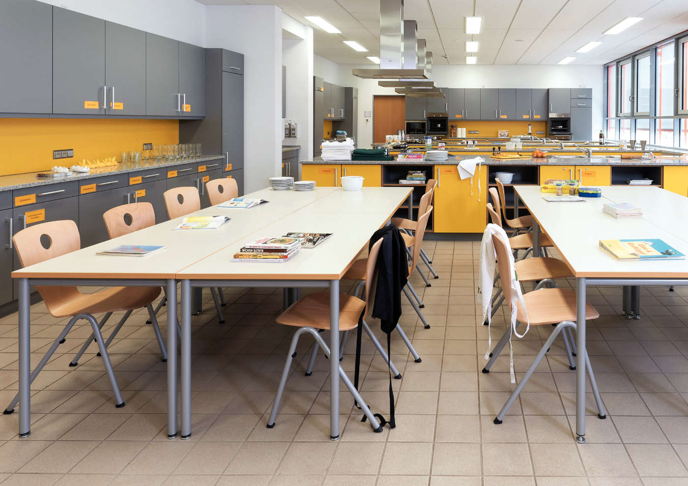Furniture for the classroom kitchen.
