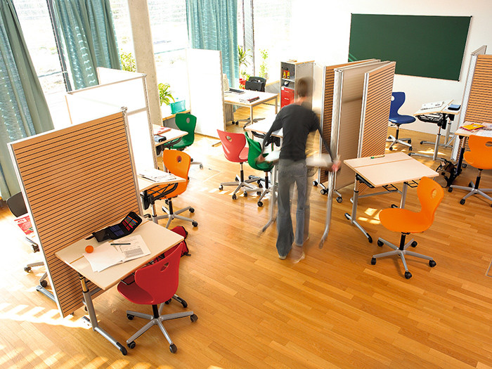 Innovative Classroom Storage ~ Acoustics are not just for concert halls