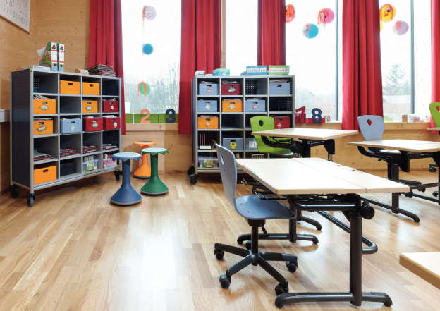 Furniture to fit pupils.