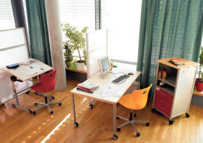 Using work areas flexibly and organizing them as required.