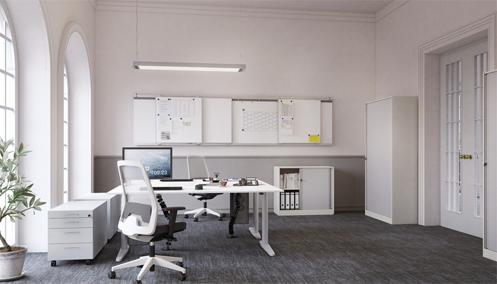 Vs le bureau avec deux postes de travail