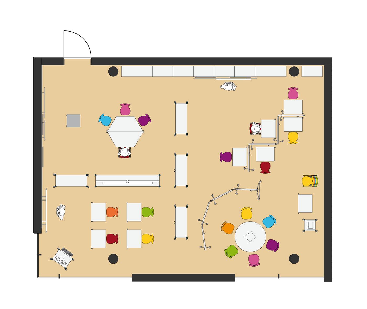 Plan Furniture Layout Vs Ergonomic School Furniture